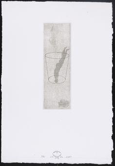 "José Antonio Suárez Londoño. Untitled #149. 1997. Etching and aquatint. plate: 5 13/16 x 1 7/8"" (14.8 x 4.7 cm); sSheet: 10 15/16 x 7 9/16"" (27.8 x 19.2 cm). the artist. the artist. 3-5 proofs. Gift of the artist through the Latin American and Caribbean Fund. 1541.2009. © 2017 José Antonio Suárez Londoño. Drawings and Prints"