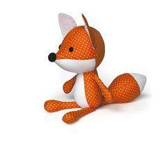 Süße Kuschel fuchs Puppe PDF nähen schnittmuster  von DIY Fluffies Stofftier Nähen & Fluffels schmuck auf DaWanda.com