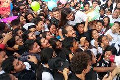 Esparza pide el voto en BUAP Campus Atlixco