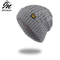 c91589820db Joymay Brand New Winter Autumn Beanies Hat Unisex Warm Soft Skull Knitting  Cap  fashion