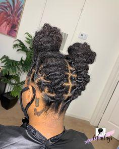 Short Locs Hairstyles, Black Girls Hairstyles, Hair Inspo, Hair Inspiration, Dreads Styles For Women, Starter Locs, Dreadlock Styles, Alternative Hair, Black Girl Aesthetic