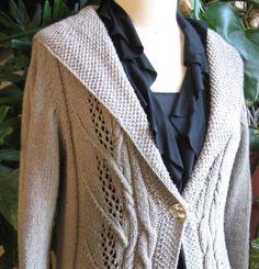 Milkweed Knitting pattern by Carol Sunday Christmas Knitting Patterns, Sweater Knitting Patterns, Arm Knitting, Moss Stitch, Seed Stitch, Dress Gloves, Yarn Brands, Julia, Knit Jacket