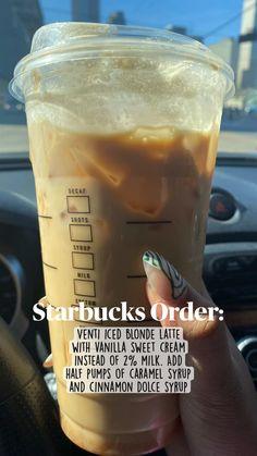Starbucks Hacks, Healthy Starbucks Drinks, Starbucks Secret Menu Drinks, Iced Coffee Drinks, Coffee Drink Recipes, Starbucks Iced Coffee, Starbucks Pumpkin, Iced Americano Starbucks, Cold Brew Coffee Recipe Starbucks