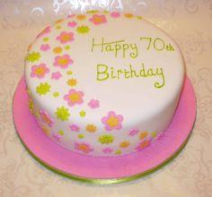 Image detail for -Flower Garden Cake Flower Garden 70th Birthday Cake – icemaidencakes