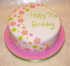 Image detail for -Flower Garden Cake Flower Garden 70th Birthday Cake – icemaidencakes