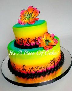 Wedding Cake--Buttercream/Airbrushed