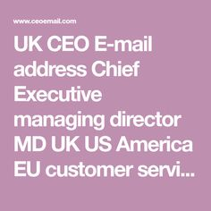 CEO email addresses - E-mail address database to find contact