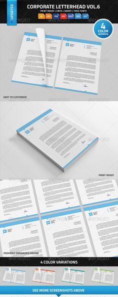 Corporate Letterhead Vol12 with MS Word DOC\/DOCX Word doc - corporate letterhead template