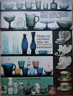 Kaikkea kaunista menneiltä ajoilta. Lassi, Glass Collection, Glass Design, Finland, Mid-century Modern, Retro Vintage, Nostalgia, Old Things, Arts And Crafts
