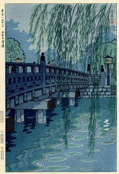1953 - Kasamatsu, Shiro - Benkeibashi Bridge, Akasaka