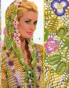 Irish crochet. Russian designers.
