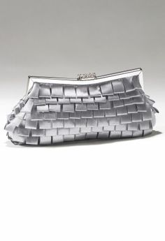 Handbags - Multi Pleated Handbag with Rhinestone Top from Camille La Vie and Group USA