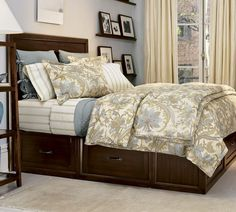 Pottery Barn Stratton bed with drawers