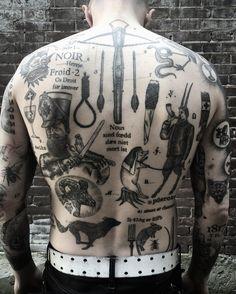 Tattoos by Kim Rense - The Hague Holland - 14-15 october London at Old Habits Tattoo - papanatos@gmail.com