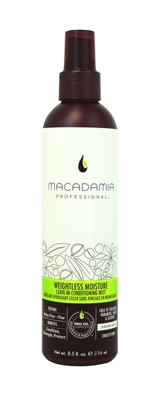 Macadamia Professional Weightless Moisture Leave-In Conditioning Mist 236ml.