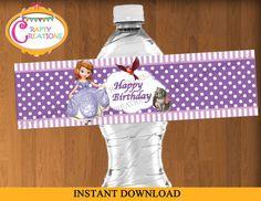 Sofia Water Bottle Wrapper Princess Sofia by CraftyCreationsUAE