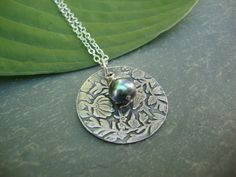 Fine+Silver+Flower+Pendant+Precious+Metal+Clay+by+Loudees+on+Etsy