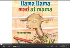 Online read aloud of Llama Llama Mad At Mama read by author/illustrator Anna Dewdney. A perfect read aloud for Prek and Kindergarten kids as they can identify with the thoughts and feelings of baby llama in so many ways. Great picture book series to help little ones make text to self connections!