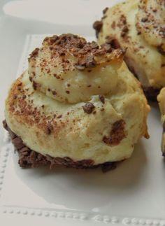 Chocolate and orange-cream cheese pastries