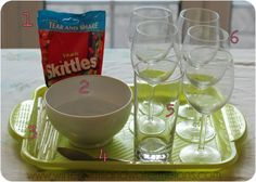 Skittles Rainbow - Science experiment for kids