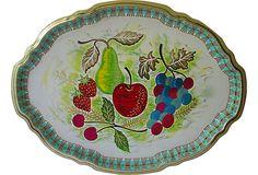 1960s Tole Fruit Tray on OneKingsLane.com