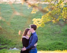California Oak Trees and Rolling Hills Engagement