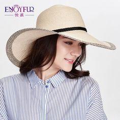 US $8.62 -- Женщины шляпа солнца трикотажные соломенные летние шлемов sun для женщин солнцезащитный крем большой брим повседневная вс шапки пляж шляпа купить на AliExpress Sun Cap, Sun Hats For Women, Panama Hat, Knitted Hats, Casual, Ali, Fashion, Moda, Fashion Styles