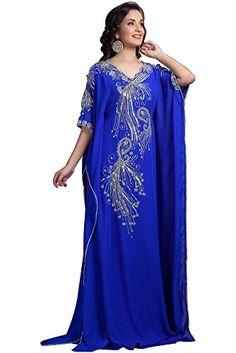 Kolkozy Fashion Women's Long Partywear Muslim dress, Blue…