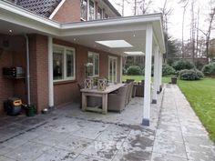 Realisatie riante veranda in Lunteren – HaBé Garden Landscaping, Porch, Pergola, Exterior, Landscape, Outdoor Decor, House, Garage, Gardening