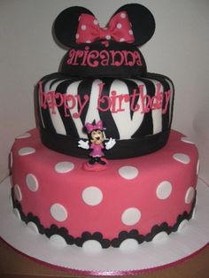 Since ryleighs bday is less than 2 months away and her bday theme is minnie mouse..im seriously considering this being her bday cake.