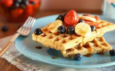 Red Lentil Waffles [Vegan, Gluten-Free] | One Green Planet