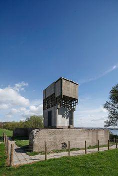 #Strijensas, Strijen, Zuid Holland, Netherlands #Luchtwachttoren 1953,