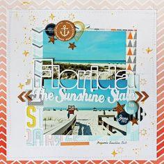 summer scrapbooking | vacation scrapbooking layout ideas