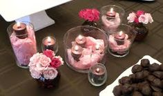 candle centerpieces pink and black - Google Search