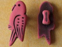 4 Kinderknöpfe pink 19mm x 8mm (4737-3) Knöpfe