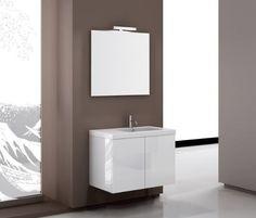 "Space 32"" Single Footed Bathroom Vanity Set with Mirror"