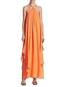 Dillard's  Trina Turk Ginger Silk Georgette Maxi Dress