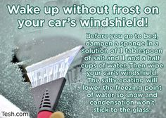 While the weather is crazy help yourself out by doing this!!!!!!  For more interesting and helpful tidbits follow me Diana Seghorn