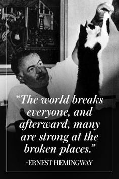 A Way with Words: 10 of Ernest Hemingway's Greatest Quotes Author Quotes, Quotable Quotes, Poetry Quotes, Wisdom Quotes, Words Quotes, Quotes To Live By, Me Quotes, Sayings, Happiness Quotes