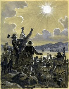 nicolai heroes of kalevala free the hosts of pixels Praise The Sun, Pencil Illustration, Mythology, Fairy Tales, Heaven, Painting, Image, Book Illustrations, Barber Shop