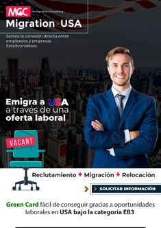 La conexión entre empleados y empresas de EEUU ¡Emigra a Estados Unidos a través de una oferta laboral! E-mail Marketing, United States