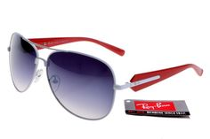 Ray-Ban Active Lifestyle 580 Red White Frame Gray Lens RB91 [RB045] - $22.68…