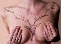 Pix For > Deer Chest Tattoo