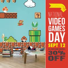 Tomorrow (September 12), we'll be celebrating with 30% all video game graphics at Blik.