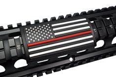 Handguard Rail Cover: United States Flag / RED LINE / Stars on Left - Large Grip PVC