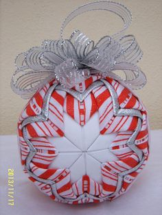 Candy Cane Quilted Ornament by JCCrafts on Etsy, $18.00
