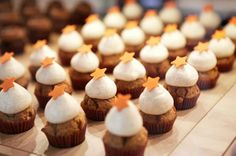 Carrot cupcakes at Agnes in Copenhagen, Denmark via http://newsmix.me