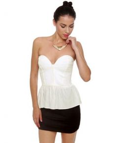 CHIQ | Confessions White Bustier Top LULUs
