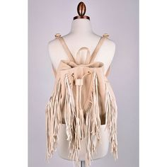 """Beige Fringe Backpack Approx measurements: L: 12"""" W: 6"""" (when opened) H: 11"""" Feel free to ask me any questions Thanks for browsing my closet! Happy Poshing Bags Backpacks"""