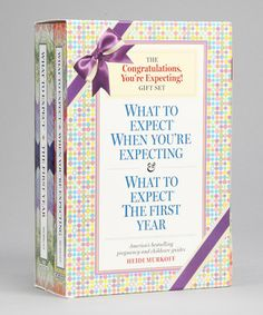 The Congratulations You're Expecting Gift Set is a 1,500-page reference library on pregnancy, childbirth and baby's first year. This two-book boxed set includes the fourth edition of What to Expect When You're Expecting and What to Expect the First Year, two of America's bestselling pregnancy and childcare guides. Read by more than 90 percent of pregnant women, What to Expect When You're Expecting is for a new generation of expectant moms featuring a fresh perspective on the most up-to-date…